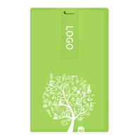 38节方形卡片U盘—绿底白树U盘 可双面高清彩印