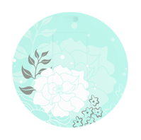 38节圆形卡片U盘—青底白牡丹U盘 可双面高清彩印