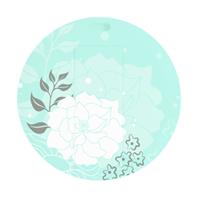 38節圓形卡片U盤—青底白牡丹U盤 可雙面高清彩印