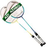 艾迪宝(ADIBO) 中性 复合碳素羽毛球拍对拍两支装(已穿线) AT210-220