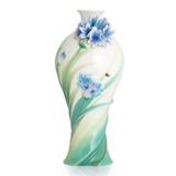 法蓝瓷 遇见幸福 矢车菊瓷瓶 FZ02846