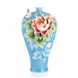 法蓝瓷 富贵满福 蝴蝶牡丹花瓶 FZ03081