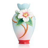 法蓝瓷 玉茗春喜 山茶花小花瓶 FZ02897