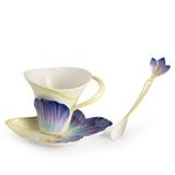 法蓝瓷 花漾季事  番红花杯盘/汤匙组 FZ02649
