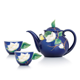 法蓝瓷 馥兰添香 白玉兰一壶两杯茶具组礼盒 FZ03042
