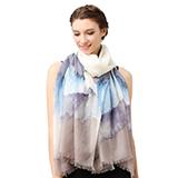 Glovin 高端系列.200支羊绒斜纹印花围巾披肩/礼盒装