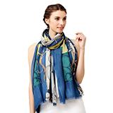 Glovin 时尚链条皮带印花澳毛围巾披肩/礼盒装