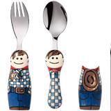 怡飯EAT4FUN二重唱卡通餐具2件套-牛仔男孩