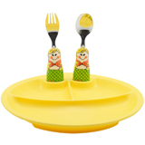 怡飯EAT4FUN二重唱餐盤餐具套裝(美人魚)