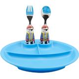 怡飯EAT4FUN二重唱餐具餐盤套裝(海盜男孩)