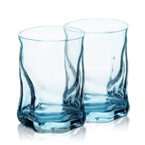 Bormioli Rocco波米歐利 索珍特冰藍波浪杯2件
