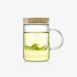 基本生活 emoi竹盖玻璃茶杯-450ml