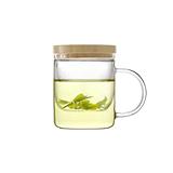 基本生活 emoi竹盖玻璃茶杯-350ml