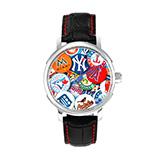 MLB 经典大联盟徽章墙限量款运动时尚男女石英腕表