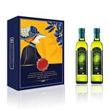 阿茜娅 意大利进口 特级初榨橄榄油 贵宾礼盒500ml*2 精装
