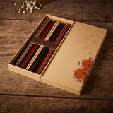 清朴堂-五小福 木筷子礼盒