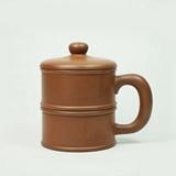 清朴堂治世盖杯-文景 纯手工原矿紫砂茶杯