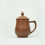 清朴堂治世盖杯-贞观 纯手工原矿紫砂茶杯