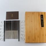 清朴堂-府宴 黑酸枝纯钛圆筷子套装