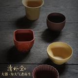 清朴堂-大器五杯 功夫茶礼物紫砂杯套装