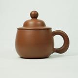 清朴堂治世盖杯-洪武 纯手工原矿紫砂茶杯