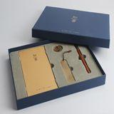 清朴堂-知书4件套 装礼盒 实木笔纯铜书签笔记本文具礼品