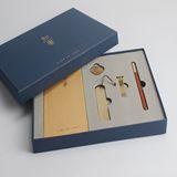 清朴堂-知书5件套装礼盒 签字笔纯铜U盘笔记本纯铜书签