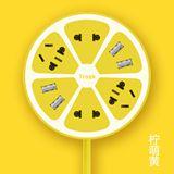 Trozk/特洛克 创意插线板 柠萌U站柠檬黄