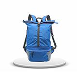 KOROVO 壳罗沃蓝色炫彩多功能折叠背包