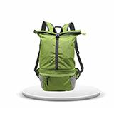 KOROVO 殼羅沃綠色炫彩多功能折疊背包