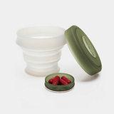 KOROVO/壳罗沃 军绿色便携硅胶水杯 JX8601 创意时尚折叠收纳杯 水杯药盒