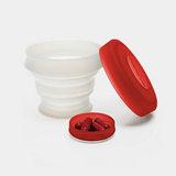 KOROVO/壳罗沃 红色便携硅胶水杯 JX8601 创意时尚折叠收纳杯 水杯药盒
