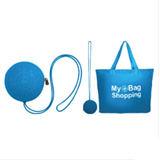 KOROVO/殼羅沃 藍色多功能收納購物袋 JX4901