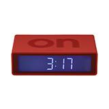 樂上/LEXON 暖紅色FLIP時鐘LR130