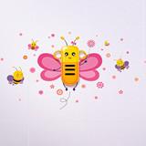 生活演异 花颜墙贴洗漱套装 甜小蜂