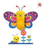 生活演异 花颜墙贴洗漱套装 花蝴蝶