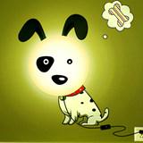 生活演异 花颜墙贴壁灯 DIY创意礼物 斑点狗