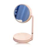 化妝鏡臺燈可充電梳妝臺式公主鏡簡約便攜式折疊LED閱讀燈補光鏡