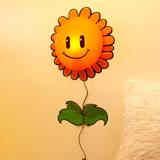 生活演異 花顏墻貼壁燈 DIY創意禮物 向日葵