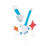 荷蘭XD Design Quatro 4合1手機連接線 藍色