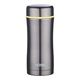 膳魔師THERMOS不銹鋼保溫杯灰色400ml 泡茶杯辦公禮品水杯TCCG-400