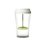 emoi基本生活透明绿色360ml/480ml 创意双层咖啡杯透明随手杯
