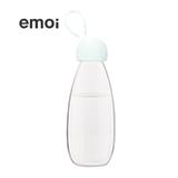 emoi基本生活 环保随身瓶透明白色360ml/480ml 便携塑料水杯随手杯