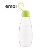 emoi基本生活 环保随身瓶透明绿色360ml/480ml 便携塑料水杯随手杯