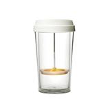 emoi基本生活透明橙色360ml/480ml 创意双层咖啡杯透明随手杯