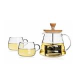 sohome 風尚竹木系列耐熱玻璃茶具三件套 GT502-A
