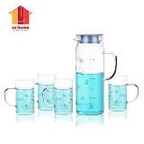 sohome 蓝色海洋冷热水具套装一壶四杯 GR104-L