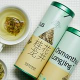 chali茶里 桂花龙井茶茶包袋泡茶 绿茶桂花茶组合花茶罐装