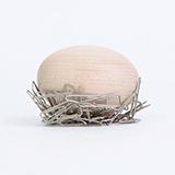 本来设计BELA DESIGN 原木蛋Nest Egg磁铁摆件