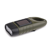 恩谷 太阳能迷你?#20540;?#31570; 手摇自发电充电 强光远射 EG-409A